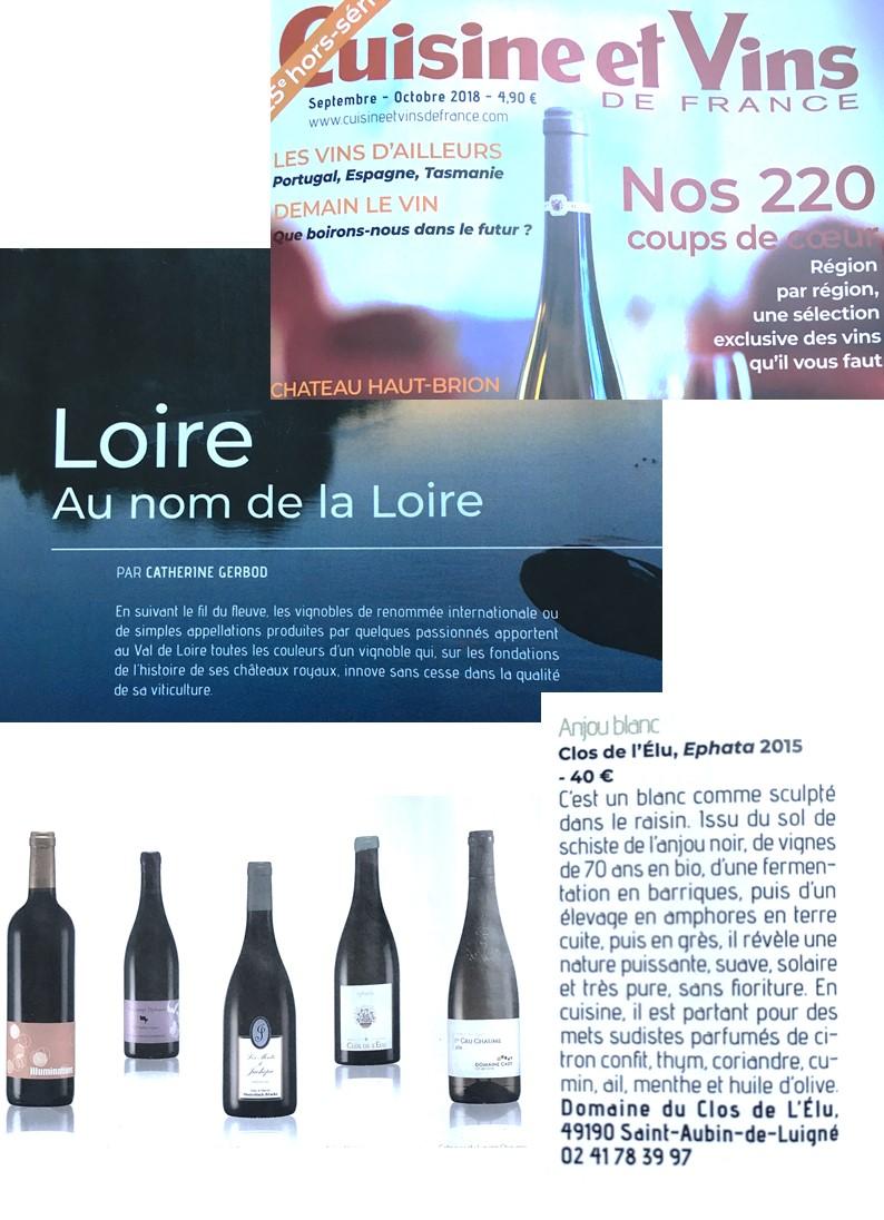 Cuisine Et Vins De France Hors Serie Vin Septembre 2018 Terre