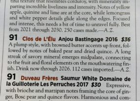 Bastingage noté par Wine Spectator